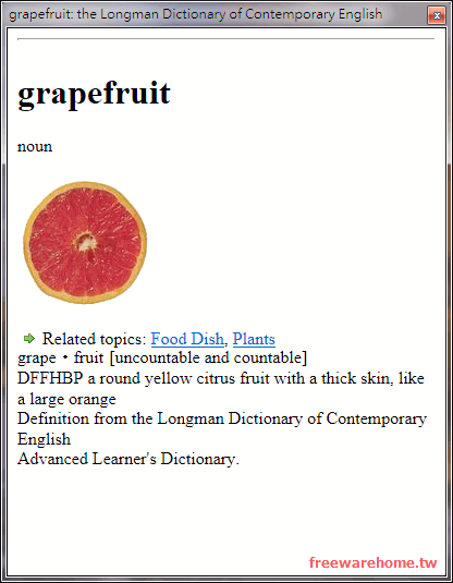 Longman English Dictionary Browser